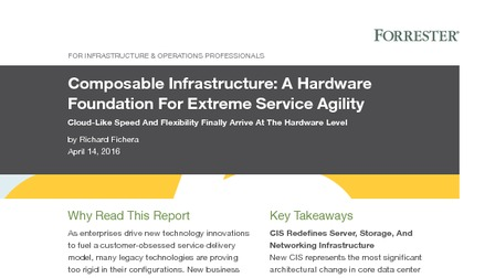 Forrester report composable infrastructure a hardware foundation for extreme service agility.pdf thumb rect larger