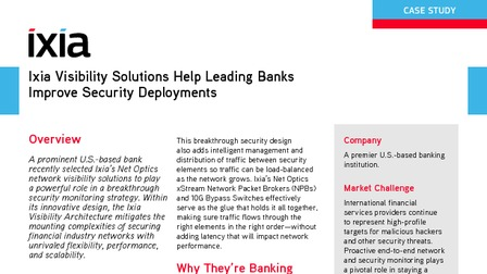 Success story leading bank uses ixia net optics to optimize security.pdf thumb rect larger