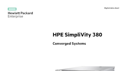 HPE SimpliVity - Hyper Converged Infrastructure Solutions - PDS